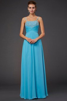 Abendkleid schlicht blau