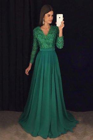 1a2635c6bd09c1 A-Line Chiffon Normale Taille Prinzessin Abendkleid mit Bordüre
