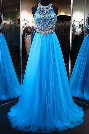 Abendkleider mittellang blau